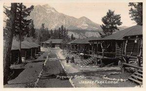 Pyramid Road, Jasper Park Lodge, Jasper, Alberta, Canada, Early Postcard, Unused