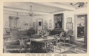 AMHERST , MA, 1910-30s ; Living Room , The Lord Jeffery