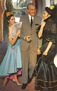 Madrid, Spain CESAR ROMERO Petrocelli Fashion Show c1960s Vintage Postcard