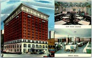 Montgomery, Alabama Postcard JEFFERSON DAVIS HOTEL Multi-View Curteich Chrome