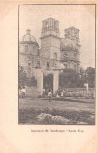 LEON GUANAJUATO MEXICO SANTUARIO de GUADALUPE POSTCARD 1900s