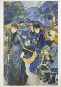 'The Umbrellas' Pierre August Renoir National Gallery Art Unused Postcard D31