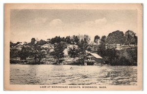 1920s Lake at Woronoake Heights, Woronoco, MA Postcard *5R4