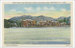NY - Lake Placid, Winter and Mirror Lake