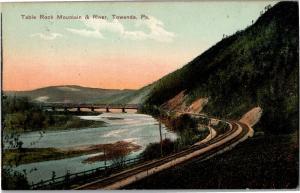 Table Rock Mountain and River Towanda PA Boyles Book Store Vintage Postcard R12
