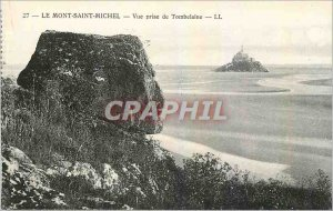 Old Postcard Mont Saint Michel View from Tombelaine
