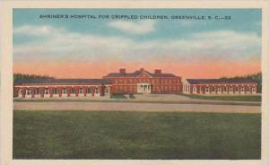 South Carolina Greenville Shriners Hospital For Crippled Children