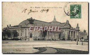 Postcard Old Paris Great Palace of Fine Arts