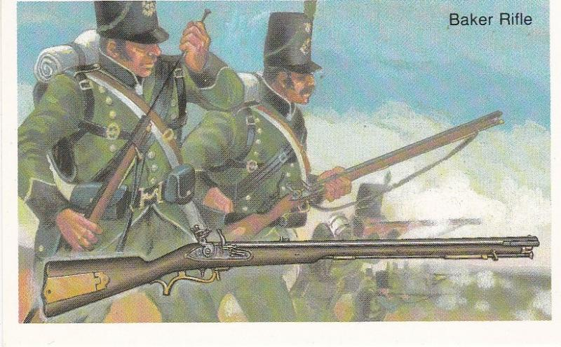 Cigarette Cards Wills – Embassy World of Firearms No 12 Baker Rifle