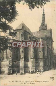 416 Old Postcard Mezieres Church (side north) and apse (end of the century xv)
