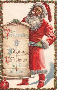 E48/ Santa Claus Merry Christmas Holiday Postcard c1910 #507 Proclamation 10
