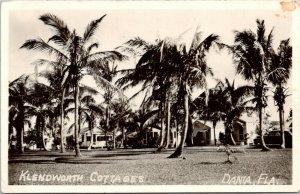 Dania Florida~Klendworth Cottages~Where We Stay~Swim Xmas Day~1950 RPPC
