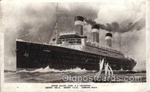 S.S. Leviathan United States Line, Lines, Ship Ships Postcard Postcards 1926