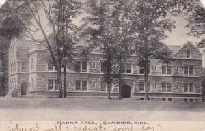 Ohio Gambier Hanna Hall 1908