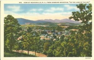 View of Weaverville, NC, from Hamburg Mountain, unused li...