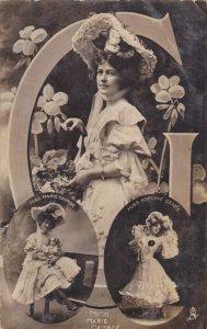 Flower & Beauty Series, Actress Miss Marie George & GERANIUM Flower , PU-00...