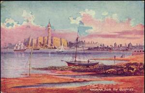cuba, HAVANA HABANA, View from Quarries (1940s)