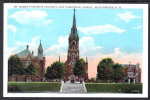 St Mary's Church,Convent and School,Manchester,NH