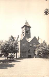Ludington Michigan~Court House~Square Clock Tower~1940s RPPC