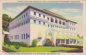 Arkansas Hot Springs National Park Maurice Baths and Therapeutic Pool Main En...