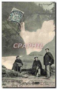 Old Postcard The Pyrenees Cascade Cerisey Costule Folklore