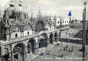 Italy Venice Chiesa S. Marco e Piazzetta photo postcard 1968