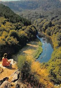Belgium Chiny sur Semois Rocher du Hat River Boats Bateaux Panorama
