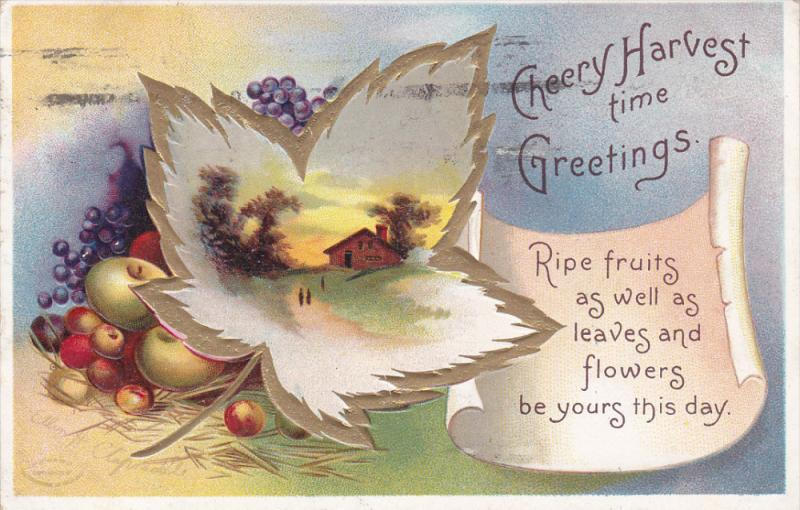 Clapsaddle: Cheery Harvest Time Greetings , PU-1911