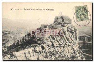 Old Postcard Valencia crussol ruins of castle