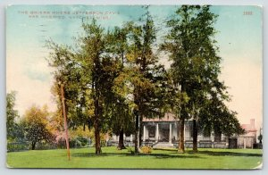Natchez MS~Briers Where Jefferson Davis was Married~Cook House~Spanish Moss~1911