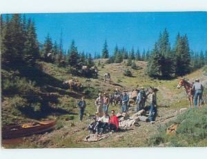 Unused Pre-1980 LODGE SCENE Alamosa Colorado CO c4992