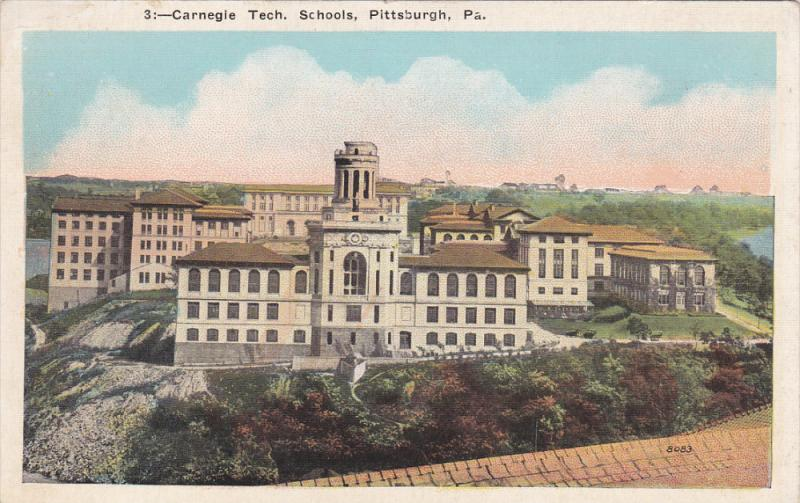 Carnegie Tech. Schools, PITTSBURGH, Pennsylvania, 1910-1920s ...