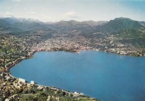Switzerland, Suisse, LUGANO, panorama, general view, unused Postcard