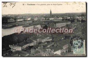 Postcard Old Toulouse Vue Generale Jack De Saint Cyprien