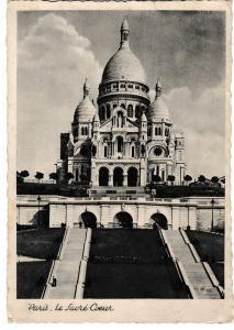Post Card France PARIS The Sacred Heart Basilica le Sacre Coeur