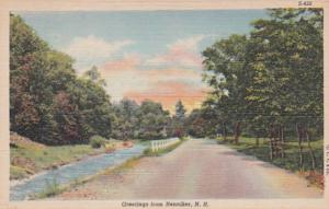 New Hampshire Greetings From Henniker Curteich