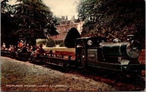 Shropshire. Woodland Railway at Lovely Lilleshall RARE VINTAGE Postcard