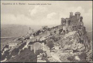 San Marino, Panorama dalla Seconda Torre (ca. 1910)