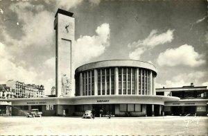 france, BREST, La Gare, Railway Station (1961) RPPC Postcard