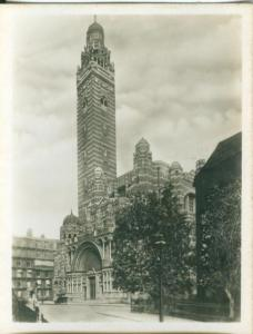 UK, London, Westminster Cathedral, 1910s-20s Real Photo Snapshot