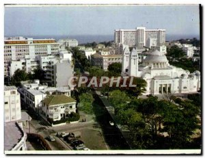 Postcard Modern L & # 39Avenue From THE Senegal Republic