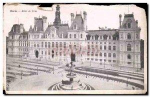 Paris Postcard Old City Hall