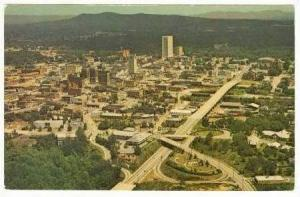 Aerial View of Business District & City,Greenville,SC / South Carolina 1960-70s