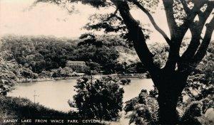 Sri Lanka Ceylon Kandy Lake From Wace Park Ceylon RPPC 06.38