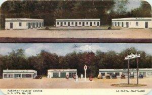 Dexter Gas Station Parkway Tourist Center La Plata Maryland 1950s Postcard 7000