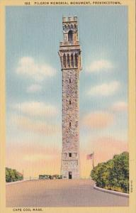 Massachusetts Cape Cod Provincetown Pilgrim Memorial Monument Curteich