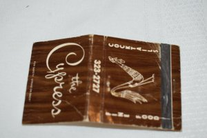 The Cypress Fine Food Chicken Hinsdale Illinois Map 30 Strike Matchbook Cover