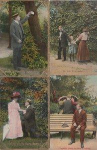 Edwardian Proposal Comic Peacemaker Love Cheating 4x Postcard s