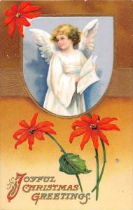 Christmas , Angel holding Song Book