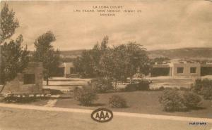 1950s La Loma Court Las Vegas New Mexico Highway 85 Artvue postcard 8773